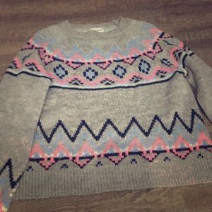 Colorful girls sweater